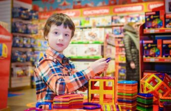 boy in the toy store