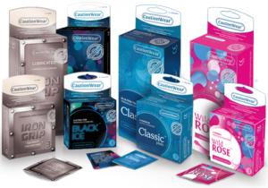 Caution Wear Condoms Brand
